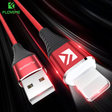 Buy FLOVEME 1M LED Lighting USB Cable iPhone X 5 6 7 8 Plus Charger Lightning Cable Hi-Tensile Charging & Data Transfer Cabo for $1.69 in AliExpress store