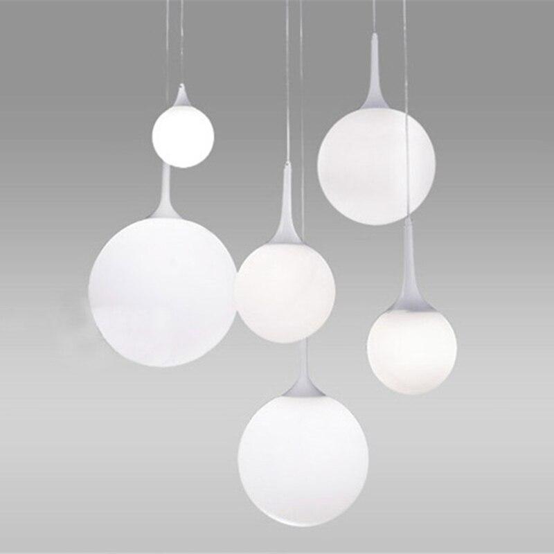 LED White Glass Ball Pendant Lamps Meteor Rain Light Meteoric Shower Stair Bar Droplight Pendant Lighting Fixtures AC110-240V<br>