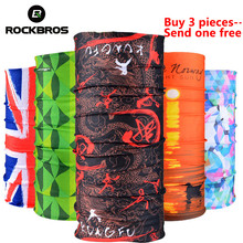 ROCKBROS Outdoor Sports Bicycle Scarf Headwear Seamless Ride Neck Mask Bike Magic Buff Cycling Equipment Headband Bandanas