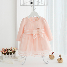 2017 Spring New Baby Girl Cotton Tulle Lace Dress Pink Angel Princess Formal Chiffor Infant Birthday Gift Clothing 1y 2t - Candy's babies & kids store
