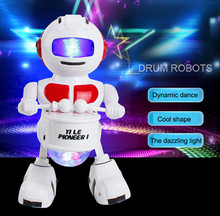 Drop shipping 2017 New Electronic Walking Dancing To Drum Smart Bot Robot Astronaut Kids Music Light Toys for baby kids #JD520(China)