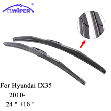 "CLWIPER Wiper Blades For HYUNDAI IX35(2010-) 2011 2012 2013 2014 2015 Car Windscreen Wiper Windshield Wiper Blade 24""+16""(China)"