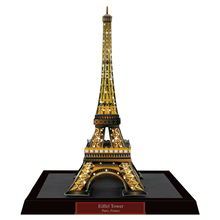 Eiffel Tower (Night), France Craft Paper Model Architecture 3D DIY Education Toys Handmade Adult Puzzle Game(China)