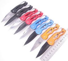 Fold Knife Carabiner peel Hang Blade camp Pare Package clip Pocket quickdraw Letter Open Opener multi tool outdoor survive Box