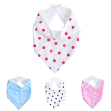 New 1Pc Kids Baby Feeding Head Scarf Towel Bib Boys Girls Dots Saliva Triangle Dribble Gift For Baby
