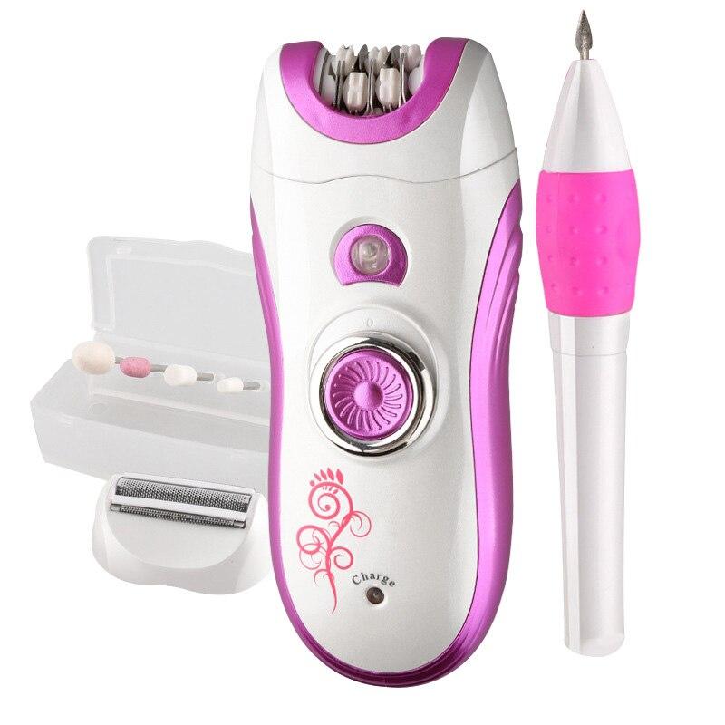 Kemei KM-3026 3 in 1 Women Electric Epilator Device Razor Lady Shaver Female Full Body Skin Care Depilation &amp; Manicure Nail tool<br>