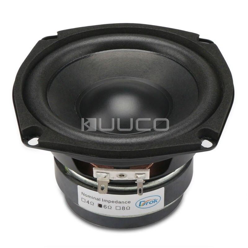 Audio Loudspeaker 40W Woofer Speaker Double magnetic Speaker 4.5-inch 4 ohms Subwoofer Bass Speaker for DIY speakers<br>