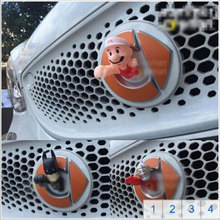 car styling accessories racing grills Emblem trim cartoon stickers cover 1p fit for 2015-2017 smart fortwo