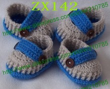 10pairs/lot Free shipping,Multi styles Crochet baby handmade shoes knit infant booties 100% cotton 0-12M cotton custom(China)