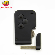 Factory Price RENAULT MEGANE SCENIC II CLIO ETC RF TYPE 3 BUTTON REMOTE ALARM KEY FOB CARD(China)