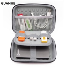 "GUANHE 2.5"" Hard Disk Case Portable HDD Protection Bag for External 2.5 inch Hard Drive/Earphone/U Disk Hard Disk Drive Case(China)"