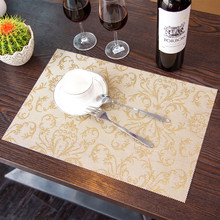 4 pcs/Lot European Placemat Dining Tables Mats Bar Mat waterproof kitchen accessories dining table mat bowl pad Table Decoration