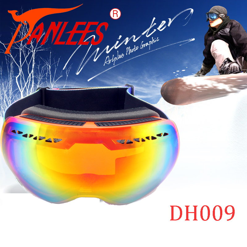 Panlees Anti-mist Snow Goggles Dual Lens Anti-UV400  Mirror Lens Snowboard Goggles Free Shipping<br><br>Aliexpress