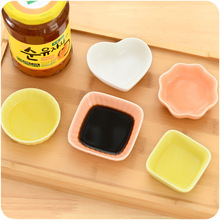 6pcs/Set Natural Ecological Ceramic Seasoning Dish Smooth Non Slip Stain and Heat Resistant Best Gift for Friends