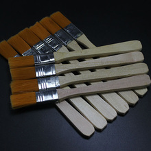 Free Shipping 10pcs BGA Solder Flux Paste Brush With Wooden Handle Reballing Tool(China)