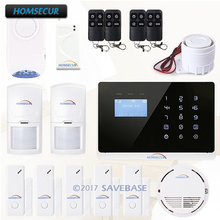 HOMSECUR Wireless Burglar Alarm Intruder House Sentry +Smoke Sensor +Flash Siren With English & French Menu adjustable(China)