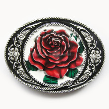 Distribute Belt Buckle Western Rose Flower Belt Buckle Free Shipping 6pcs Per Lot Mix Style is Ok