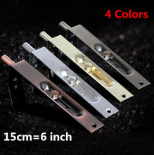 6 inch Aluminum Stainless Steel Door Latch Bolt Slide Bolt Gate Lock Security Door Guard Lever Action Flush Latch 4 Color