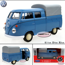 1PC Wyly welly t1 Picard's vw bus blue refined luxury gift box alloy car model children gift(China)