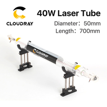 Cloudray Co2 Glass Laser Tube 700MM 40W Glass Laser Lamp for CO2 Laser Engraving Cutting Machine(China)