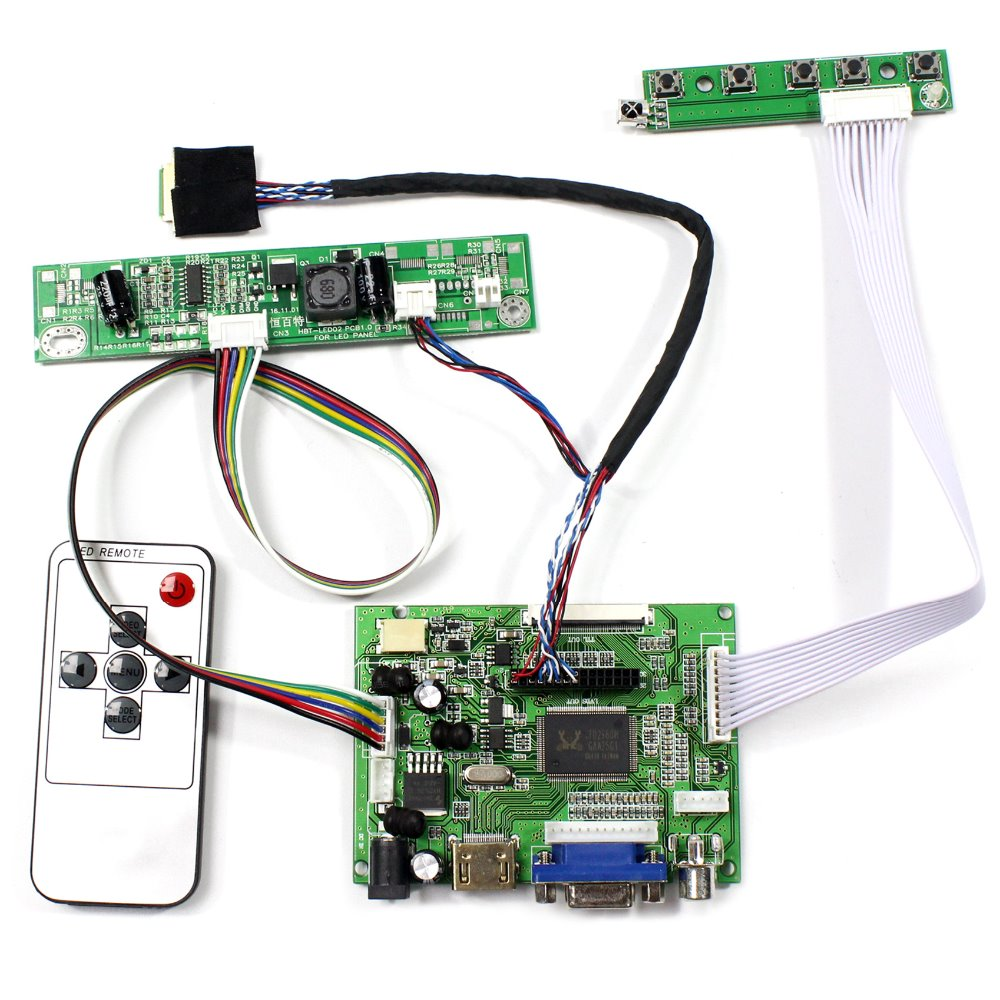 HDMI VGA 2AV LCD Controller Board Work For 9.7 LP097X02 LTN097XL01 1024x768 LCD Screen<br>