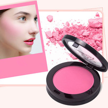 Soft Maquiagem Pressed Natural Face Blush Powder Makeup Blusher Palette blush Silty fine 4-color blush rouge(China)