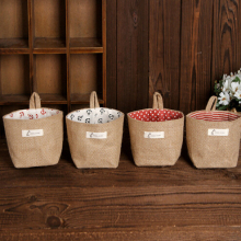 Cotton Linen Fabric Storage Non Woven Basket Storage Buckets Bags Kids Toy Box Home Sundries Organizer