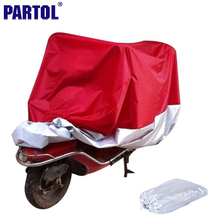 Partol L XXL XXXL Motorcycle Cover Waterproof Dustproof Scooter Cover Outdoor Sportster Touring Cruiser For Suzuki Honda Harley(China)