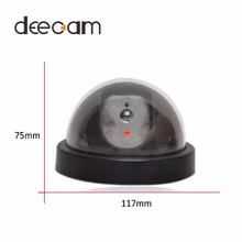 Popular Free Shipping Wonderful Outdoor Indoor Fake Surveillance Security Dummy Camera Cam Led Light(China)