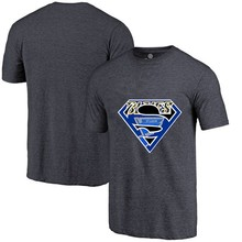 High Quality Summer Fashion Men's Blues Fans T-Shirt, St. Louis Tees Superman S Logo Picture Printing Classical O-neck T Shirts(China)