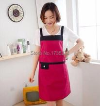 kitchen Simple fashion pinafore waterproof Antifouling chef can debug hang neck apron clothing costom logo worker waiter dress