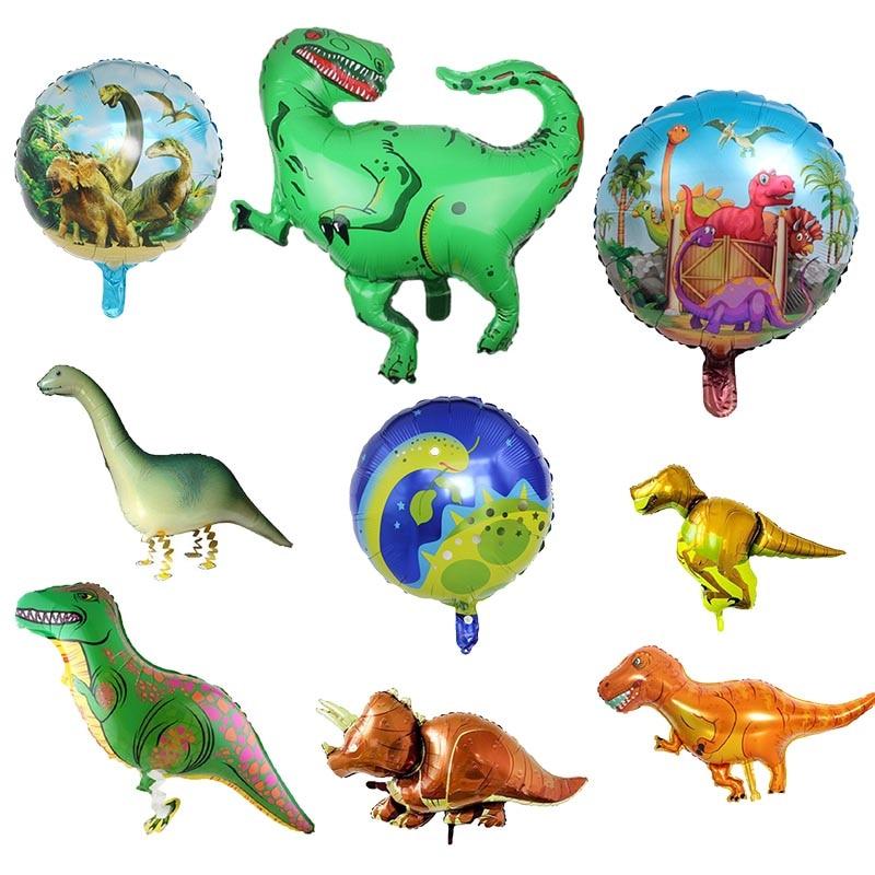 13 Types Cartoon Dinosaur Balloons Foil Balloon Kids Happy Birthday Party Decoration Gift Balloon Nursery Childrens Day Supplies