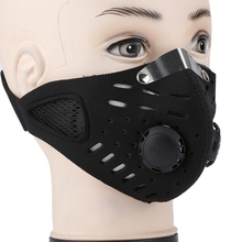 Black Anti Dust Mask Sports Warm Half-face Protection Against Activated Carbon Mask Face Filter Cycling Bicycle Motorcycle Use(China)