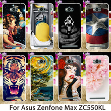 Soft Phone Cases For ASUS Zenfone MAX Z010D zc550kl 5.5 inch Cases Cool Hard Back Cover Shell Skin Housing Sheaths Hoods Bags
