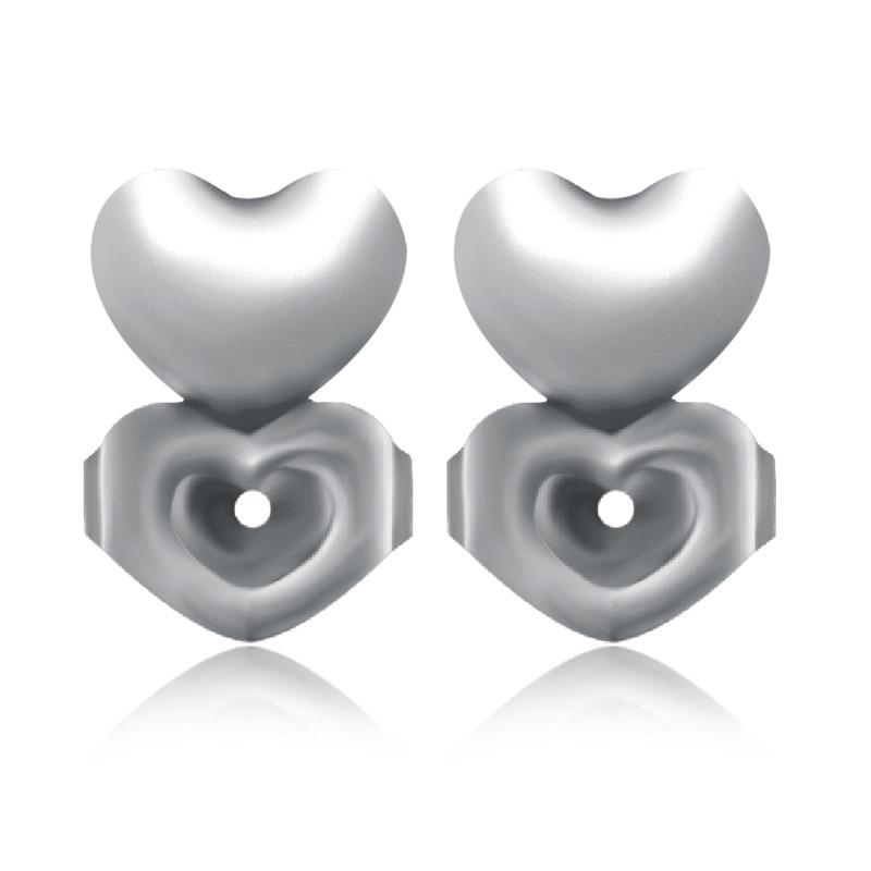 Ms Betti heart clover crown earring listers back set04