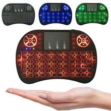High Quality Portable Backlit 3 color Backlight 2.4G Wireless Mini Keyboard Air Mouse Touchpad for PC Pad /Mac Android TV Box