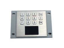 IP65 Stainless Steel USB kiosk Keyboard With Touchpad with 12 keys
