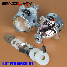 SINOLYN Upgrade Metal 3.0 H1 Pro HID Bi xenon Lens Projector lenses Headlight H1 H4 H7 Headlamps Car Styling Automobiles Part(China)