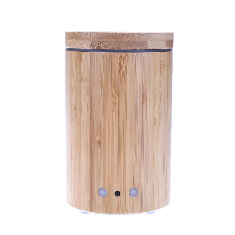 160ML Remote Control Ultrasonic Air Aroma Humidifier with Colorful LED Lights Wireless Bomboo Essential Oil Aroma Diffuser<br>