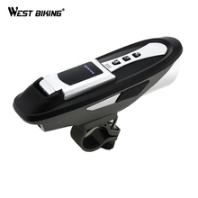 WEST BIKING 6 Function Cycling Compute+Light +Sound+Bluetooth Phones+Bell+USB Charger+Bicycle Waterproof Wireless Bike Computer