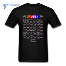 New Male nascar T-shirt 2017 Summer Fashion Round O neck Short-Sleeved Custom Made T-shirts Man Fittness T shirt large size 3XL(China)