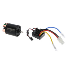 GoolRC 540 45T 4 Poles Brushed Motor and WP-1060-RTR 60A Waterproof Brushed ESC with 5V/2A BEC for 1/10 RC Car Parts