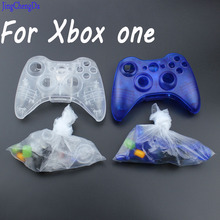 transparent clear blue Portable Wireless Bluetooth Gamepad Remote Controller Full Housing Shell + Buttons For XBOX 360 Black(China)