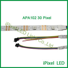 HOT sale 30leds/m programmable apa102 rgb full color digital led strip light with a bigh discount