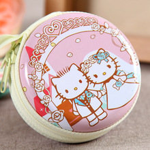 hello kitty Earphone Wire Organizer Box(Without Earphone) Data Line Cables Storage Box Case Container Organizer zipper Coin Box