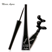MARIA AYORA Waterproof Black Eyeliner Liquid Eye Liner Pen Makeup High Quality Sponge Head Sweat Resistant - Black(China)