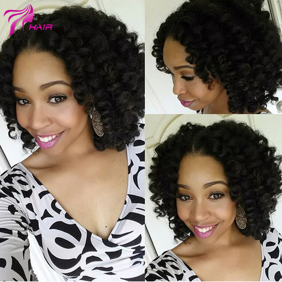 Top Quality Kinky Curly Lace Front Wigs Unprocessed Brazilian Lace Front Wig Glueless Short Curly Full Lace Human Hair Wigs<br><br>Aliexpress