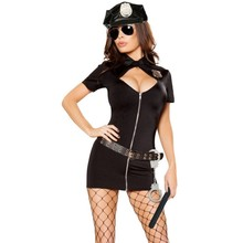 Women cat costume 2017 new sexy black fight costumes for role playing bodycon jumpsuit one piece cat woman sexy costume M8907(China)