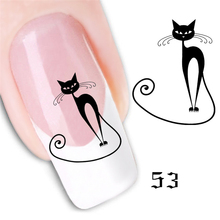 A new watermarking nail 61 styles of art nail Decals posted Manicure fashion nail stickers TZ01(China)