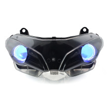 KT Headlight for Ducati Superbike 848 2008-2013 LED Angel Eye Blue Demon Motorcycle HID Projector Assembly 2009 2010 2011 2012